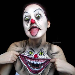 Cool! By @cedoviste (ineedhalloweenideas) Tags: halloween makeup make up ideas for 2017 happy night before christmas october 31 autumn fall spooky body paint art creepy scary horror pumpkin boo artist goth gothic amazing awesome