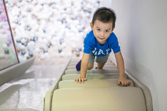 Portrait of a baby boy playing at playground, Shanghai, China, Sep 2, 2018 (Yinjia Pan) Tags: 23years ballpool challenge childcare climbing conqueringadversity determination development education excitement growth learning leisurefacilities movingup onebabyboyonly oneperson playground portrait preschoolage preschoolbuilding preschoolstudent recreationalpursuit slideplayequipment sliding small staircase stepsandstaircases toddler beautifulpeople blackeye blackhair carefree cheerful child childhood chineseethnicity curiosity cute domesticlife enjoyment exploration indoors innocence joy leisureactivity lifestyles lookingatcamera photography playful playing smiling toy stickingouttongue