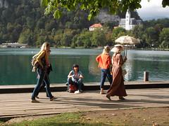 Passing by (marco_albcs) Tags: bled slovenia slovenija lake people women walking