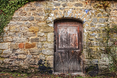 Old barn (JLM62380) Tags: old barn grange ferme farm condette france stones moellons porte door rubble red rouge architecture wall