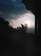 Dark rooftop (sam.naylor) Tags: italy europe travel medium format film fuji gs645s 645 120 nature farmland farm mountain mountains hills countryside provia 100 slide positive chrome