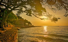 Two fishermen (alnesleif2) Tags: jetty idyllic boardwalk pier water surface rippling tranquility thailand pattaya naklua sunset fishing seascape sea