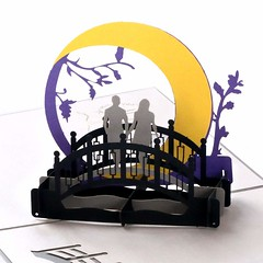 Laser Cut 3D Pop Up Couple Card (mywowstuff) Tags: gifts gift ideas gadgets geeky products men women family home office