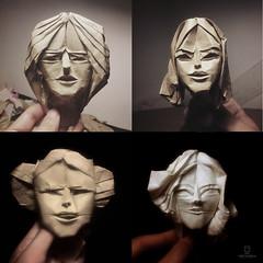 FEMALE_MASKS (João Charrua) Tags: mask origami paper fold art sculpture female