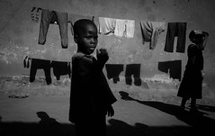Sunny Afternoon (gunnisal) Tags: children sun shadow uganda kampala bw blackandwhite gunnisal monochrome