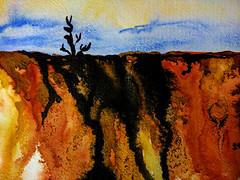 Semi abstract watercolor landscape (mariola aga) Tags: watercolor painting landscape semiabstract art