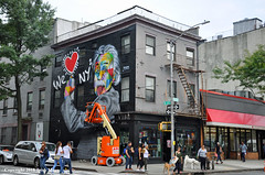 Einstein Mural (Trish Mayo) Tags: mural kobra kobrastreetart art streetart paintedwalls chelsea einstein weheartny