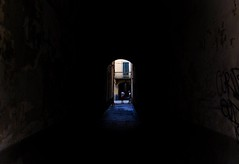 street talk - montevarchi, italy (The world is my canvas) Tags: montevarchi montevarchiitaly toscany italy italians alley walls light lightattheendofthetunnel guys d90 nikond90 2470mmf28