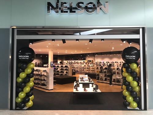 Ballonpilaar Breed Rond Bedrukt Opening Nelson Schoenen Winkelcentrum de Koperwiek Capelle aan den IJssel