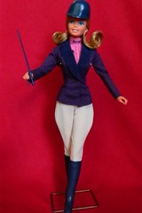 VINTAGE SUPERSTAR EUROPEAN WESTERN BARBIE DOLL w/ #7080 HORSEBACK RIDING! OUTFIT (laika*2008) Tags: outfit 7080 horsebackriding doll westernbarbie europeanwesternbarbie superstarbarbie barbie superstar vintage