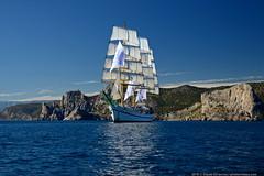 DSC_7335 (yuhansson) Tags: фрегат херсонес море чёрное парусник крым паруса парус корабли корабль путешествие путешествия югансон юрий boat sea sky water vessel ship sailing новыйсвет судак
