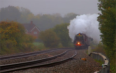 Drizzle and Steam (Colin Weaver) Tags: lms 462 pacific stanier steam loco locomotive heritage railway railroad 6233 46233 duchess sutherland mortimer