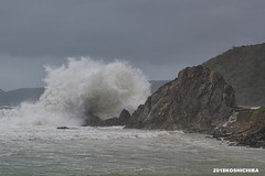 Splash  breaking (koshichiba) Tags: typhoon monsoon tide wave surf rock okinawa kunigamison japan seascape landscape splash