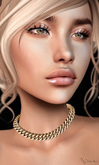 You've been on my mind, girl, like a drug (Neva Valon) Tags: michan necklace lashes jewelry accessory blog blogger portrait beauty closeup female woman pixel avatar sl secondlife catwa truth jewellery