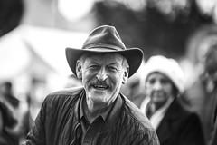 Wanna' be cowboy (Frank Fullard) Tags: frankfullard fullard candid street portrait happy smile smiling cowboy ballinasloe horse fair galway irish ireland monochrome black white blanc noir