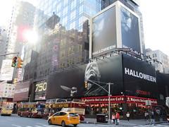 Halloween 2018 Movie Billboard 3134 (Brechtbug) Tags: halloween 2018 movie billboard horror film billboards nyc 10202018 new york city michael myers jamie lee curtis judith john carpenters no dr samuel sam loomis doctor adventure holiday 7th ave avenue 50th st street standee monster killer knife slasher 1978 was original 40 years ago