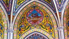 IMG_8670 - i quattro pizzi - particolare interno (molovate) Tags: pittura mosaico affresco tafme geometria figura canon powershot sx40 hs acquasanta villino florio volate porto paladini cavalli salone dei ricevimenti antica tonnara molovate
