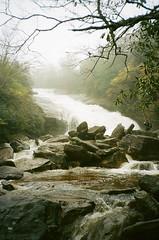 (ChazboTheThird) Tags: olympus xa kodak portra 400 iso 35 mm 35mm film blue ridge parkway pwk nc north carolina lower falls water fall waterfall waterfalls