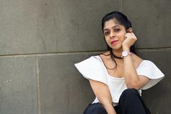 My Alice (nimitrastogi) Tags: gal girl lady woman portrait model pretty dress white wall sitting