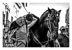 Testigo de un momento emotivo/ witness of an emotive moment/ Le temoin d'un moment émotive (Luis kBAU) Tags: jaleo caballo horse abrazo caxier emotion llanto crying emotive emotivo testigo witness hug