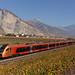 SOB RABe 526 TRAVERSO effectuant des courses d'essai en Valais