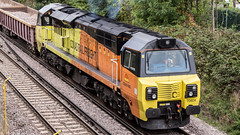 70804 (JOHN BRACE) Tags: 2013 general electric erie pa usa class 70 co diesel loco 70804 station colas livery seen during track renewal works between crawley ifield photo taken from goffs park footbridge looking towards