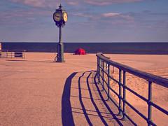 Clock Can't Make Up Its Mind (EssGee Photography™) Tags: lumixdcfz80 newyork vintage travel tranquil tourist shore shadow sand rockaway riispark ocean ny gatewaynationalrecreationarea color clock boardwalk beach atlanticocean artdeco