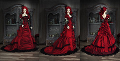 Rouge Victorienne (AyuAna) Tags: bjd ball jointed doll dollfie ayuana design minidesign ooak handmade dress set clothing clothes outfit robe gown vetement tenue victorian historical style fashion couture sewing sewingfordolls soom supergem
