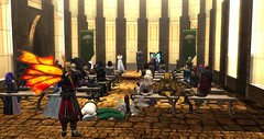 Avilion townhall meeting (Osiris LeShelle) Tags: secondlife second life avilion nexus medieval fantasy roleplay gathering meeting people townhall