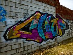 Hey! What's Chup (Steve Taylor (Photography)) Tags: graffiti streetart tag colourful newzealand nz southisland canterbury christchurch newbrighton chup