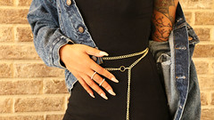 double wrap waist belt (RVREthreads) Tags: waist belt cuban link gold chain etsy rarethreads rvrethreads jewelry body