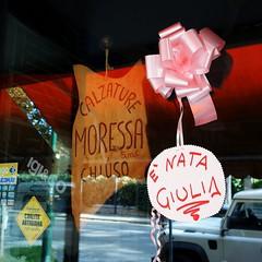 Welcome Giulia (Bosc d'Anjou) Tags: giulia venezia lido announcement birth pinkribbon italy itsagirl