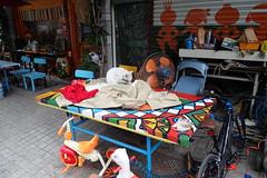 cat 71 (8pl) Tags: chat chatblanc table jouets maison extérieur devant vélo chaises couleurs vitre vitrine peinture ventilateur taïwan chenis divers