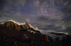 Campsite with a view ll, Trekking around Elbrus (Mike Reva) Tags: astronomy astrophoto astrophotography astro stars sky stargazing stillness samyang24 snow starrynight milkyway milky mountains moon midnight night nightsky nature nghtsky nightscape n