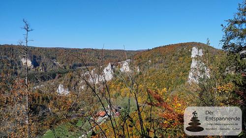 Blick auf das Donautal und das Jägerhaus
