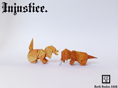 Injustice - Barth Dunkan. (Magic Fingaz) Tags: anjing barthdunkan chien chó dog hond hund köpek origami paperfolding perro pies пас пес собака หมา 개 犬 狗