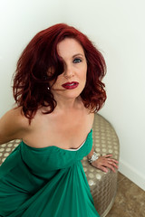 Lady in Green (Laveen Photography (aka cyclist451)) Tags: az arizona dianagruenig douglaslsmith laveenphotography phoenix cyclist451 model modeling muse photograph photographer photography wwwlaveenphotographycom diana fashion green greendress home redhair