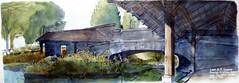 Saint-Vinnemer (atelierdelatimbale) Tags: bourgogne stvinnemer sketch aquarelle lavoir