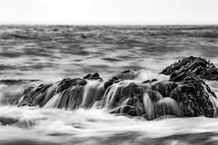 Chaos-2 (|MBS-..|) Tags: nikon d3s monochrome blackandwhite rock seaside seascape 80200mm waves beach morning