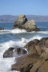 Rocky Coast (JustinPhiIIips) Tags: outdoors nature san fransisco lands end ocean nikon d3200 travel explore bay water coastal coast west pacific autumn fall park sea rock waves crashing landscape waterscape cliffs hills mountains