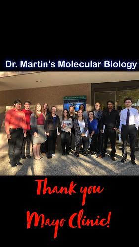 Biology class @ Mayo Clinic