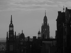 Spires & domes of Glasgow city centre (Wider World) Tags: scotland glasgow citycentre dome spire monochrome