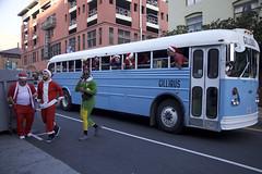 Busing Them In (Generik11) Tags: people xmas santacon costumes santaclaus holiday booze pubcrawl santacon2018 sf bus