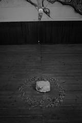 Mask & Stone (sebastienvillain) Tags: fujifilm fuji fujifeed xe2 xseries xf18mm noiretblanc noir blanc blackandwhite black white bw nb monochrome couvent marseille marseilles expo exposition artwork mask stone