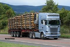 W. TAYLOR & SONS SCANIA TOPLINE STREAMLINE R580 V8 SV65 KKW (Darren (Denzil) Green) Tags: wtaylorsons cromartybridge a9 kelsalightbar finechty dennisontrailers sv65kkw r580v8 streamline topline scania scaniatrucks haulage contractors transport trailer timber timberhaulage timbertransport
