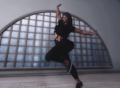Pleasure Principle (Shay/ Shaterica Wulluf) Tags: janet jackson secondlife second life sl shaterica wulluf dance backdrop city black
