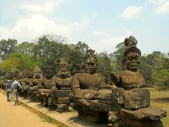 Angkor, Siem Reap, Cambodia 2009 (leonyaakov) Tags: cambodia siemreap angkor history monument religion buddhism buddhisttemple asia unesco shrine stoneart stonecarving bridge tourism sunnyday ancientcapital