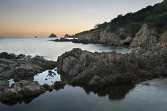 Acqua e Granito (nicolamarongiu) Tags: landscapes landscape paesaggio mare sunset tramonto granito capospartivento chia sardegna longexposition longexposure italy rocce rock specchio reflex