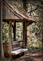 Covered Bench... (angelakanner) Tags: canon70d bench wood