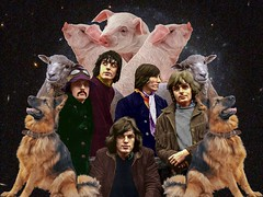 """Animals - Pink Floyd"" (Marooned.Collage) Tags: animals artwork art surrealism surreal space sky stars dogs pigs sheeps digitalart collage collageart collageartist collageartworks collagesociety contemporaryart mixedmedia visual visualart photoshop psychedelic pinkfloyd"